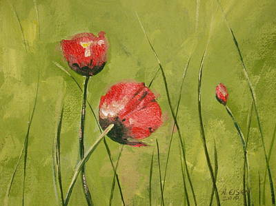 Painting - Swaying Poppies by Outre Art  Natalie Eisen