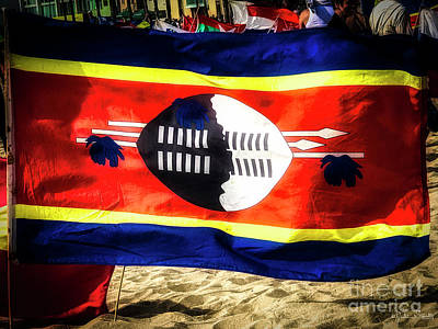 Photograph - Swaziland Flag by Julian Starks