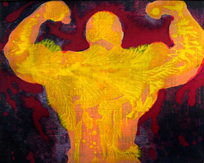 Bodybuilding Painting - Sweat And Blood by David Lajoie