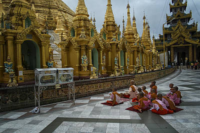 Swedagon Prayers Art Print by David Longstreath