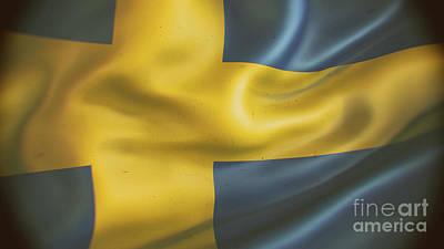 Anne Geddes Florals - Sweden flag by Giordano Aita
