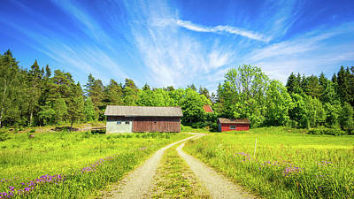 Photograph - Swedish Barn by James Billings