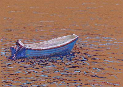 Pastel - Swedish Boat by Art Nomad Sandra  Hansen