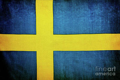 Photograph - Swedish Flag Background by Anna Om