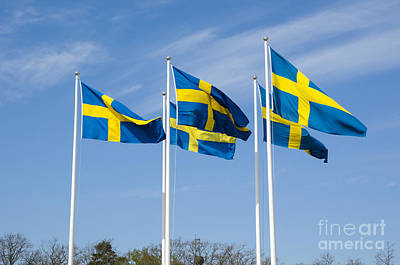 Photograph - Swedish Flags by Kennerth and Birgitta Kullman