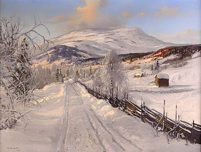 Beautiful Vistas Painting - Swedish Winter Landscape by Mountain Dreams