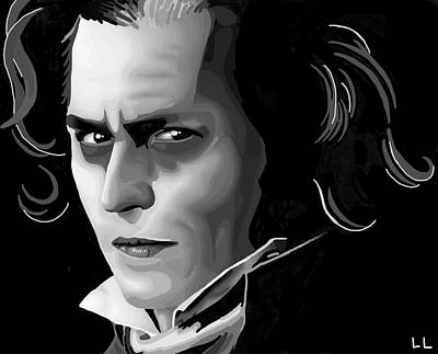 Sweeney Todd Digital Art - Sweeney by Lisa Leeman