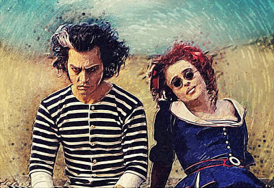 Johnny Depp Digital Art - Sweeney Todd And Mrs. Lovett by Taylan Apukovska
