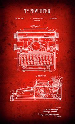 Sweeney Typewriter Patent  1941 Art Print by Daniel Hagerman