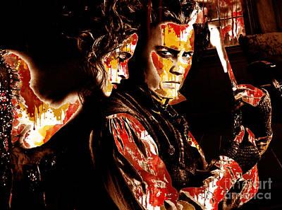 Sweeney Todd Digital Art - Sweeny Todd - Johnny Depp,helena Bonham by Prar Kulasekara
