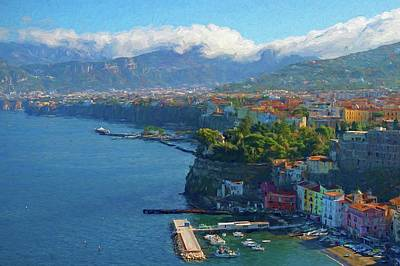 Piano Photograph - Sweeping View Sorrento Painting by Allan Van Gasbeck
