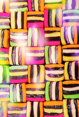 Chewy Photograph - Sweet And Colorful Chewy Candy Background by Jorgo Photography - Wall Art Gallery
