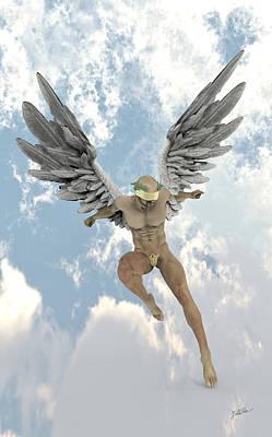 Seraphim Angel Digital Art - Sweet Angel by Joaquin Abella
