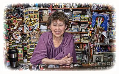 Photograph - Sweet Asian Storekeeper  by Jim Fitzpatrick