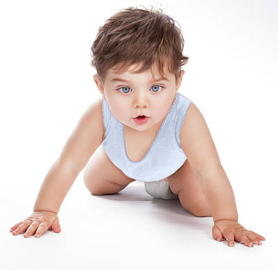 Photograph - Sweet Baby Crawling by Anna Om