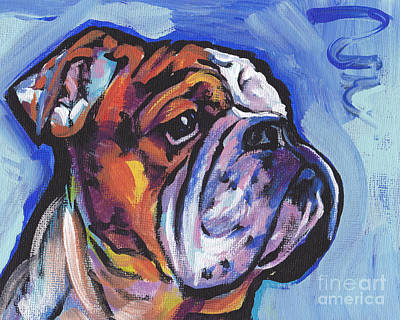 Modern Dog Art Painting - Sweet Bully by Lea S
