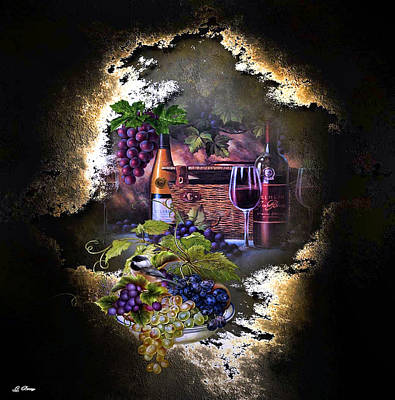 Wine Cellar Mixed Media - Sweet Cabernet 003 by G Berry