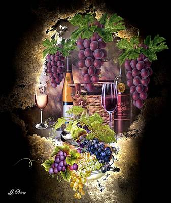 Wine Cellar Mixed Media - Sweet Cabernet 2 by G Berry