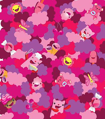 Cute Cupcakes Digital Art - Sweet Camouflage by Seedys