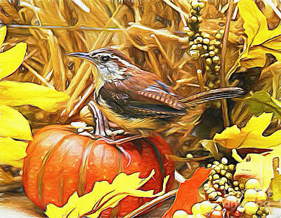 Sweet Carolina Wren Art Print