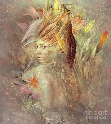 Digital Art - Sweet Chameleon by Ali Oppy