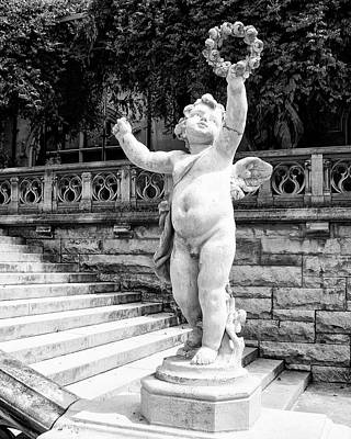 Sweet Cherub Biltmore Estate Art Print by William Dey