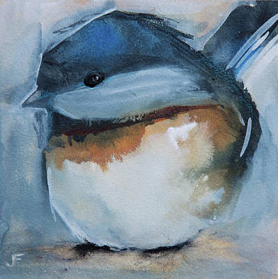 Painting - Sweet Chickadee by Jani Freimann