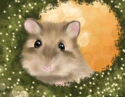 Mouse Painting - Sweet Christmas  by Veronica Minozzi