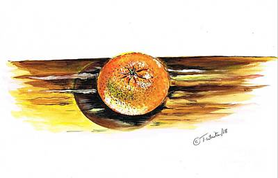 Mixed Media - Sweet Clementine by Teresa White