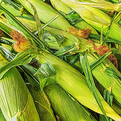 Photograph - Sweet Corn by Lewis Mann