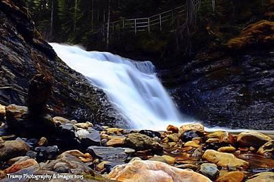 Sweet Creek Falls , Wa Art Print
