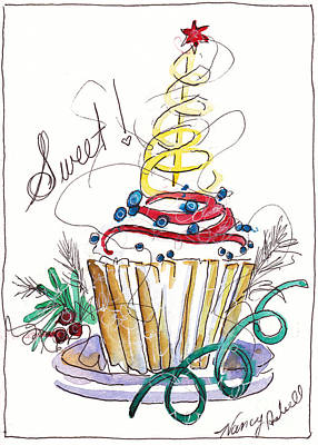 Sweet Cupcake Art Print by Michele Hollister - for Nancy Asbell