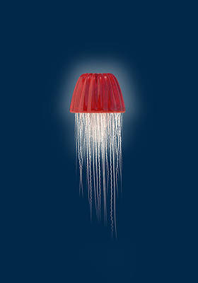 Jellyfish Digital Art - Sweet Death by Nicholas Ely