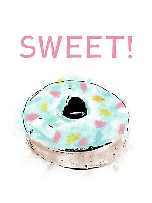Mixed Media - Sweet Donut- Art By Linda Woods by Linda Woods