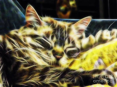 Cuddly Digital Art - Sweet Dreams Baby Girl by D Hackett