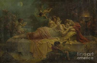 Sweet Dreams Painting - Sweet Dreams by Hans Zatzka