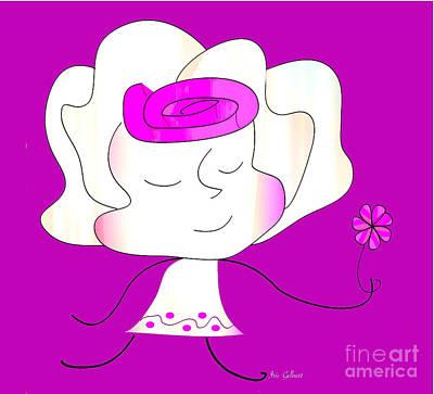 Digital Art - Sweet Dreams, Little Girl by Iris Gelbart