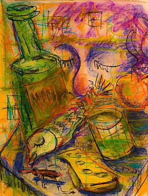 Glass Bottle Drawing - Sweet Dreams by Maxim Komissarchik