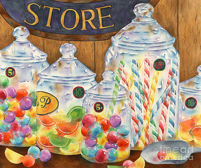 Candy Store Painting - Sweet Dreams by Michelle Carrick