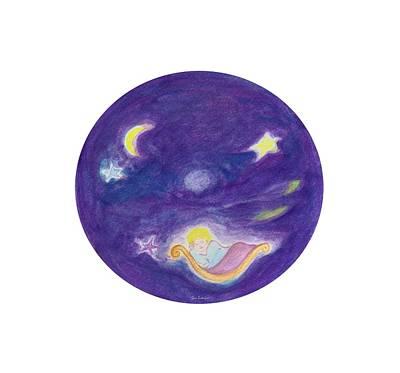 Children Painting - Sweet Dreams My Little Angel by Tomer Rosen Grace
