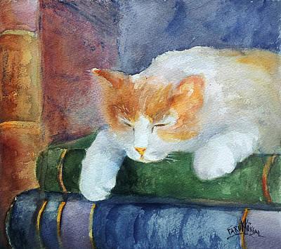 Sweet Dreams On The Books Art Print by Faruk Koksal