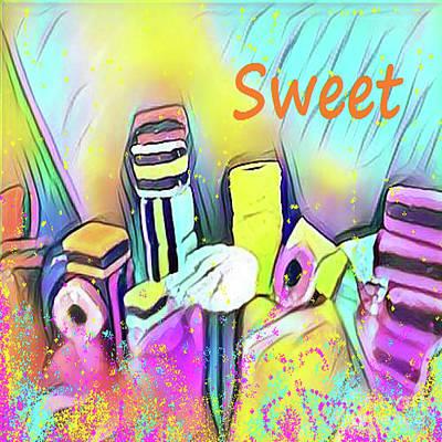 Liquorice Digital Art - Sweet by Elizabeth Worthington