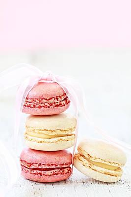 Sweet French Macarons Art Print by Stephanie Frey