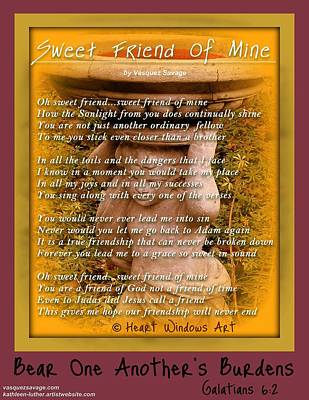 Photograph - Sweet Friend Of Mine by Kathleen Luther