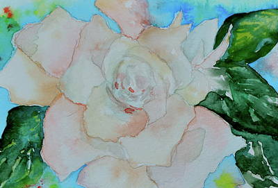 Art Print featuring the painting Sweet Gardenia by Beverley Harper Tinsley