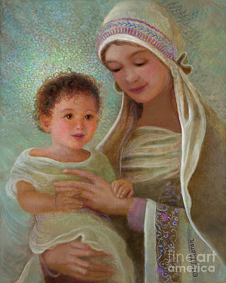 Painting - Sweet Grace Madonna And Child by Nancy Lee Moran