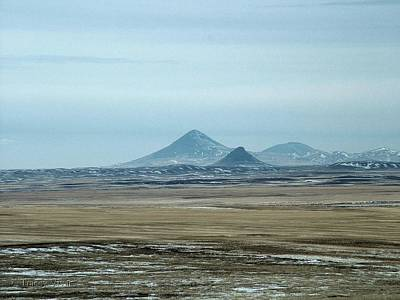 Photograph - Sweet Grass Hills Pyramids by Tracey Vivar