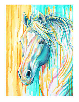 Painting - Sweet Heart Horse by Tish Wynne