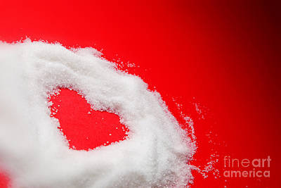 Target Threshold Nature - Sweet heart of sugar on red background by Michal Bednarek