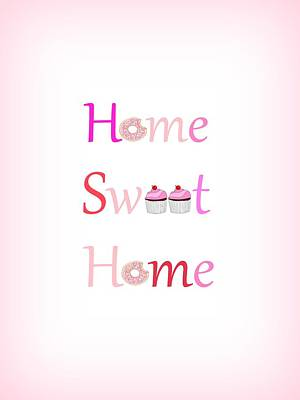 Sweet Home - Typography Art Print